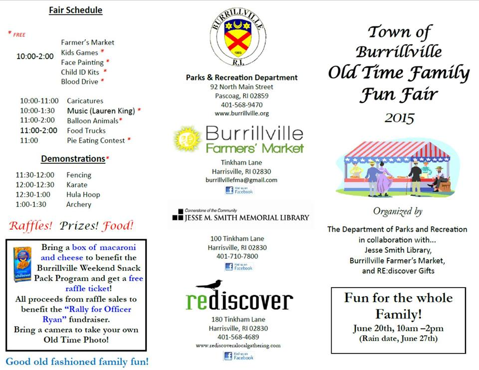 Community Events Calendar | Visit Burrillville